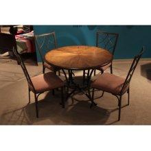 Broderick 5-Piece Wood and Metal Dining Set