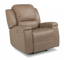 Asher Leather Power Gliding Recliner with Power Headrest