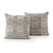 Faded Block Print Pillow, Set of 2