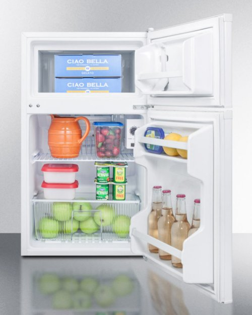 Compact Energy Star Listed Two-door Refrigerator-freezer With Two Side Locks and Cycle Defrost Operation