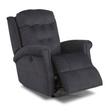 Minnie Fabric Power Rocking Recliner