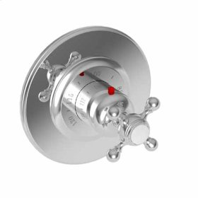 Stainless Steel - PVD Round Thermostatic Trim Plate with Handle