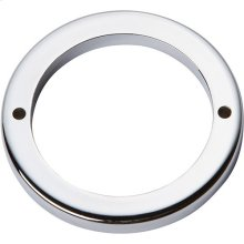 Tableau Round Base 2 1/2 Inch - Polished Chrome