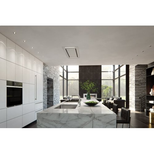 """48"""" Ceiling-Mounted Hood - White Glass"""