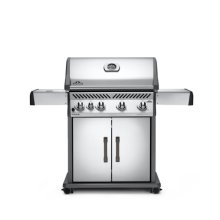 Rogue® 525 Natural Gas Grill with Infrared Side Burner, Stainless Steel