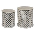 Bengal Manor Mango Wood Pierced Set of Tables Product Image
