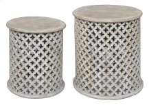 Bengal Manor Mango Wood Pierced Set of Tables