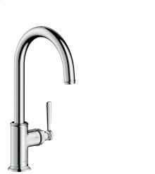 Chrome Single lever kitchen mixer 260 with swivel spout