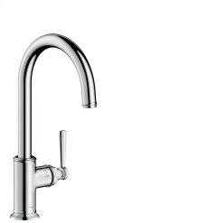 Chrome Single lever kitchen mixer 260 with swivel spout