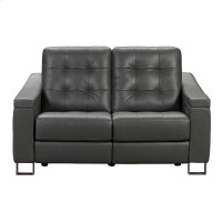 Parker Tufted Leather Power Reclining Loveseat in Storm Grey Product Image