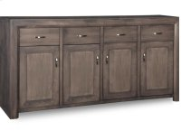 Contempo Sideboard w/4 Wood Doors & 4/Dwrs & 3/Wood Adjust. Product Image