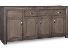 Contempo Sideboard w/4 Wood Doors & 4/Dwrs & 3/Wood Adjust.