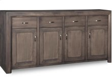 Contempo Sideboard w/4 Wood Doors & 4/Dwrs & 3/Wood Adjust.