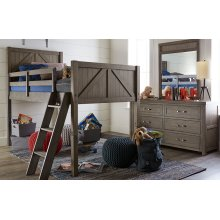 Bunkhouse Mid Loft Bed, Twin 3/3