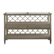 Oasis-Sea Cloud Console Table in Grey Birch