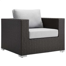 Sojourn Outdoor Patio Sunbrella® Armchair in Canvas Gray