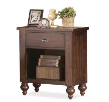 Castlewood One Drawer Nightstand Warm Tobacco finish