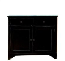 Splash Of Color Vestibule Cabinet Antique Black finish