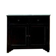 Splash Of Color Vestibule Cabinet Antique Black finish