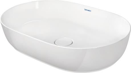 Washbowl, Inside Color White, Outside Color White