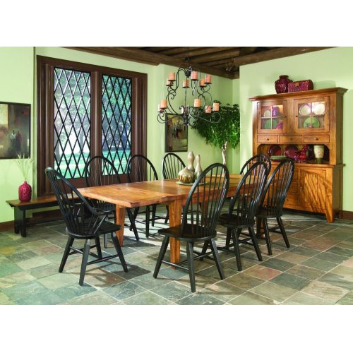 Rustic Traditions Tapered Leg Dining Table