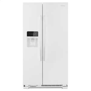 Amana33-inch Side-by-Side Refrigerator with Dual Pad External Ice and Water Dispenser - white