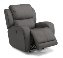 Chaz Fabric Power Gliding Recliner