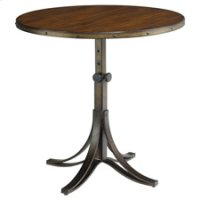 Mercantile Round Adjustable Accent Table Product Image