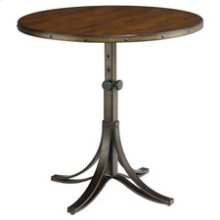 Mercantile Round Adjustable Accent Table