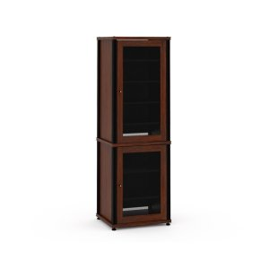 Salamander DesignsSynergy Solution 703, Quad-Width AV Cabinet, Walnut with Black Posts