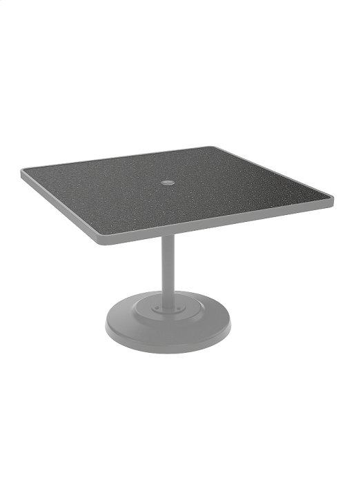 "Raduno 42"" Square KD HPL Pedestal Dining Umbrella Table"