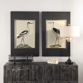 Birds On The Shore Framed Prints, S/