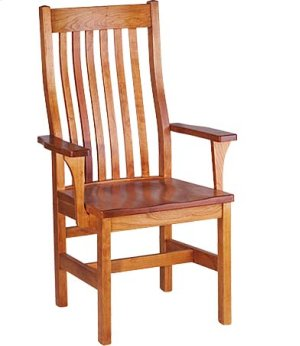 Marshall Arm Chair w/ Wood Seat