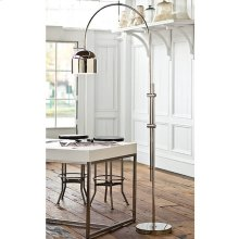 Arc Floor Lamp With Metal Shade (nickel)