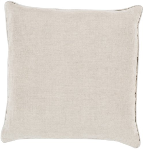 """Linen Piped LP-008 22"""" x 22"""""""