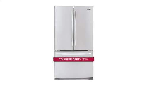 21 cu. ft. Large Capacity Counter-Depth 3-Door French Door Refrigerator