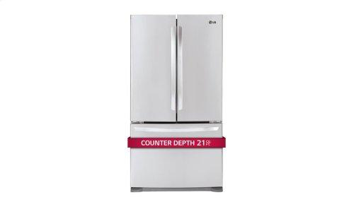 21 cu. ft. Large Capacity Counter-Depth 3-Door French Door Refrigerator