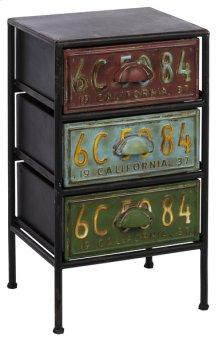 Three Drawer License Plate Cabinet