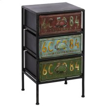 Three Drawer License Plate Cabinet