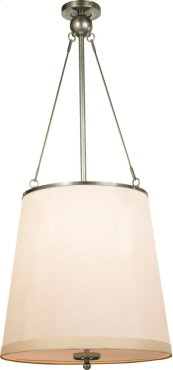 Visual Comfort BBL5023PWT-S Barbara Barry Westport 3 Light 18 inch Pewter Finish Hanging Shade Ceiling Light