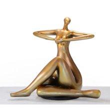 Modrest SZ0395 - Modern Gold Lady Yoga Sculpture