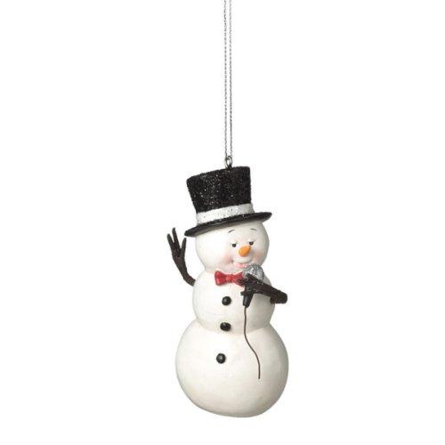 Crooning Snowman Ornament