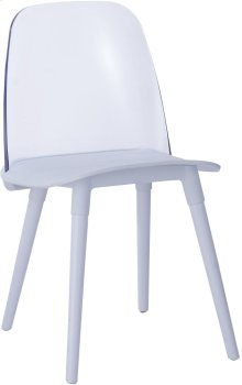 Pasha White Acrylic Chair (Set of 2)
