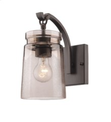 Travers 1 Light Wall Sconce in Rubbed Bronze