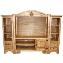 Flat Screen Wall Unit W/star
