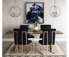 Akiko Black Velvet Chair Product Image