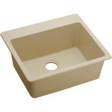 """Elkay Quartz Classic 25"""" x 22"""" x 9-1/2"""", Single Bowl Drop-in Sink, Sand"""
