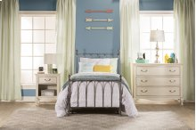 Molly Twin Bed Set - Black Steel