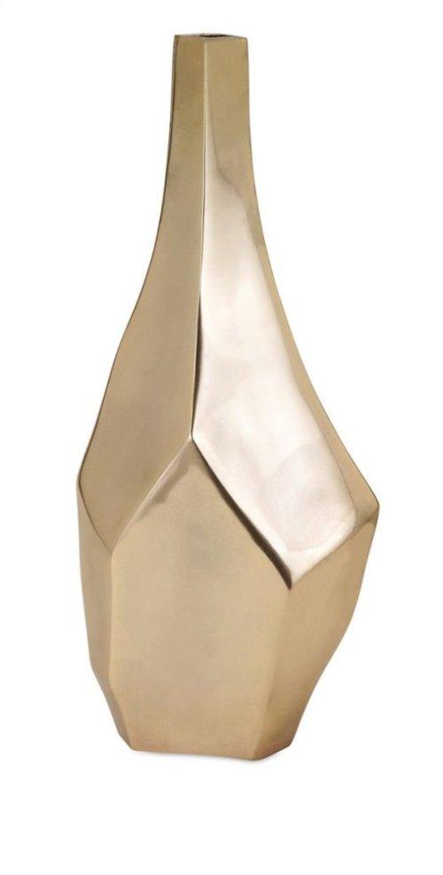 Sienna Large Gold Vase