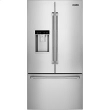 "72"" Counter-Depth French Door Refrigerator with Obsidian Interior, Pro-Style® Stainless Handle"
